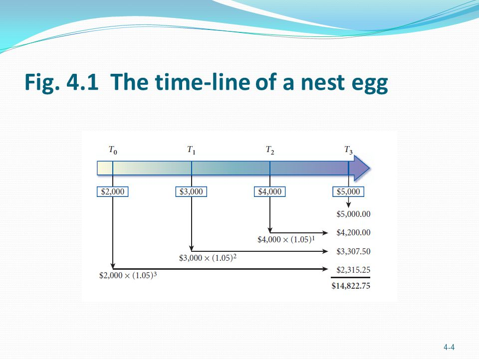 Fig. 4.1 The time-line of a nest egg