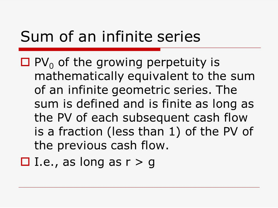 Sum of an infinite series