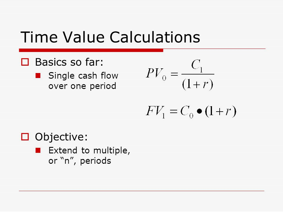 Time Value Calculations