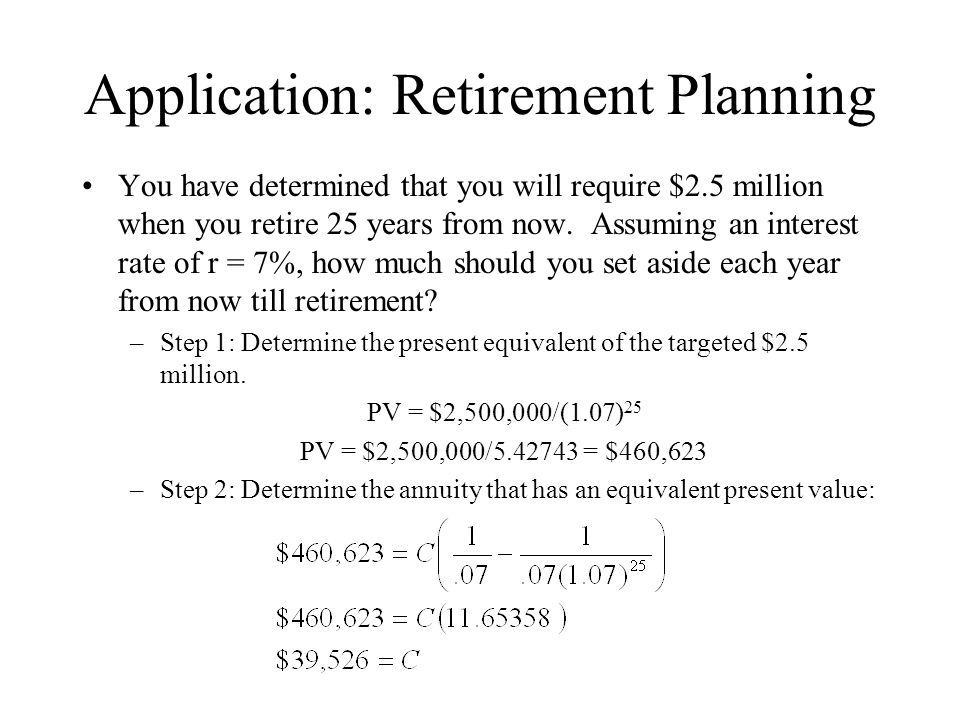 Application: Retirement Planning