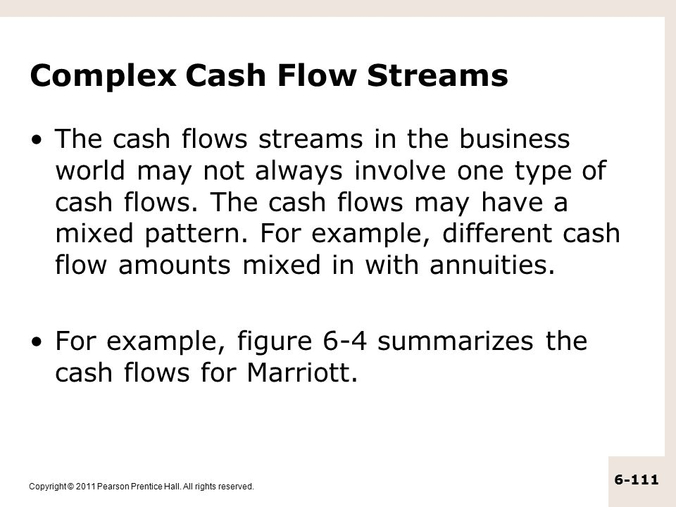 Complex Cash Flow Streams