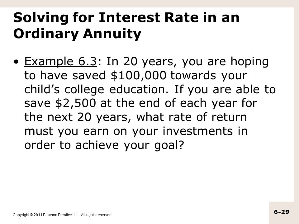 Solving for Interest Rate in an Ordinary Annuity