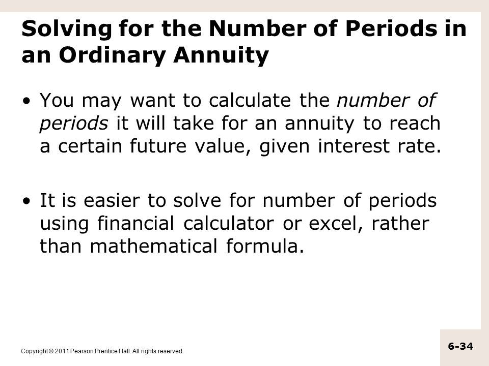 Solving for the Number of Periods in an Ordinary Annuity
