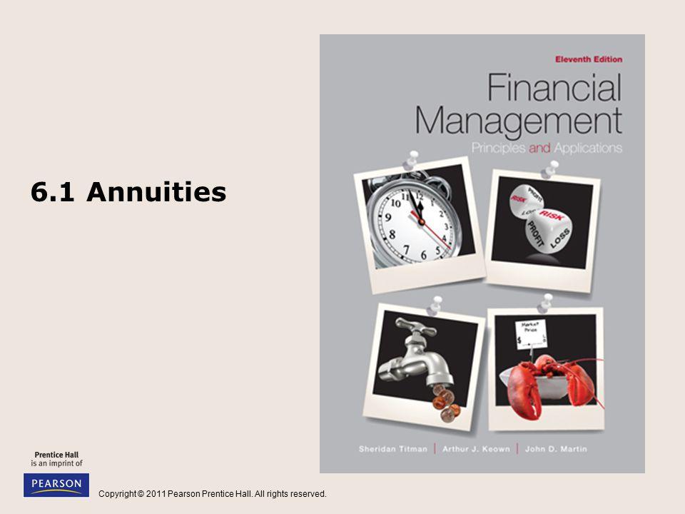 6.1 Annuities