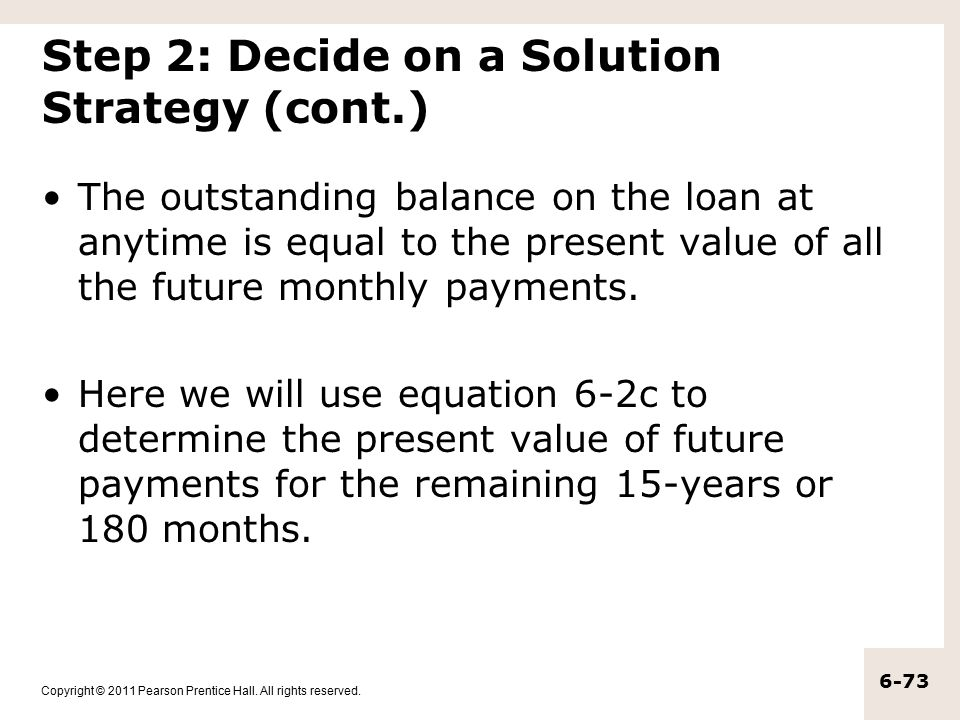 Step 2: Decide on a Solution Strategy (cont.)