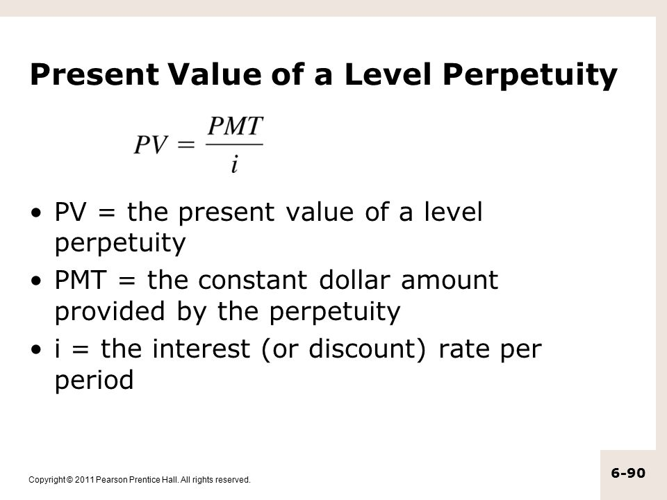 Present Value of a Level Perpetuity