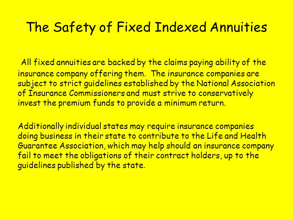 The Safety of Fixed Indexed Annuities