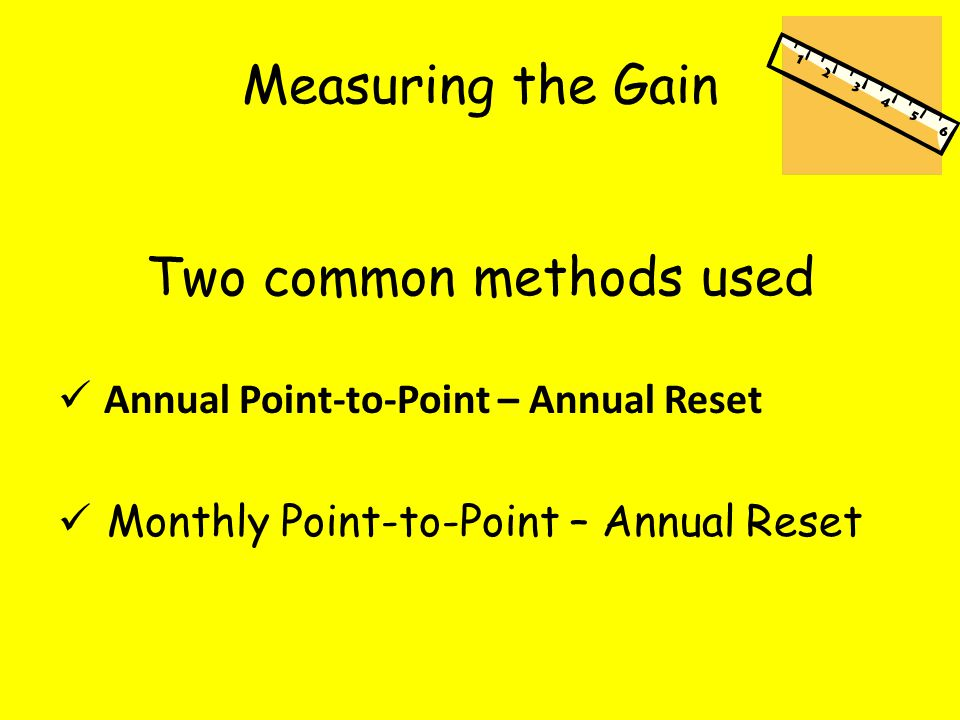 Measuring the Gain Two common methods used