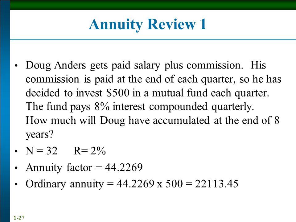Annuity Review 1