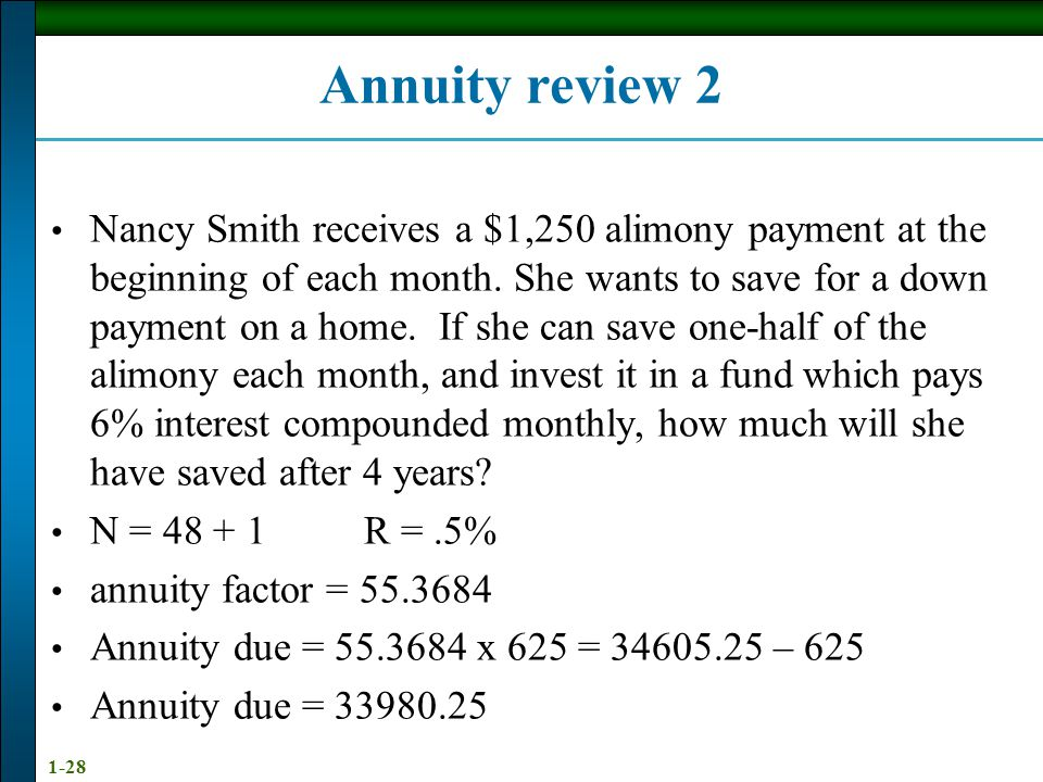Annuity review 2