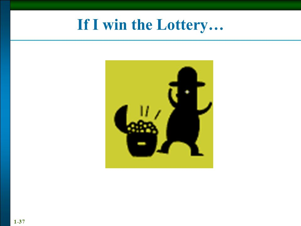 If I win the Lottery…