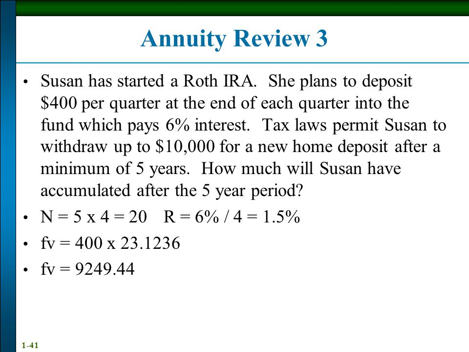 Annuity Review 3