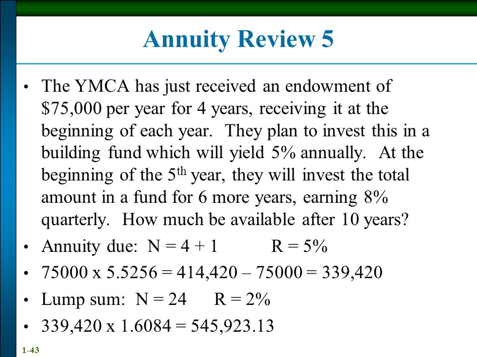 Annuity Review 5