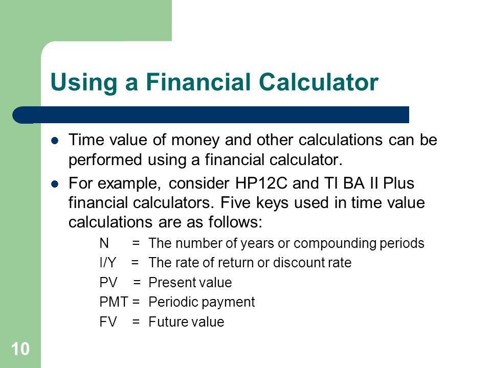 Using a Financial Calculator