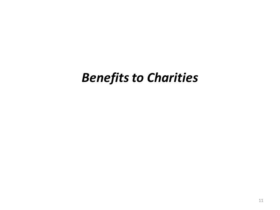 Benefits to Charities