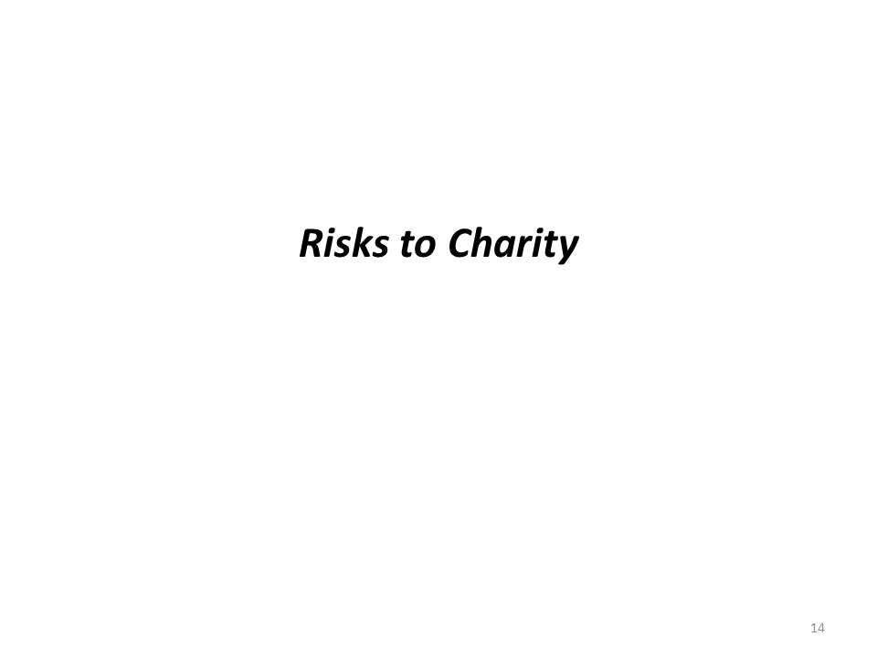 Risks to Charity