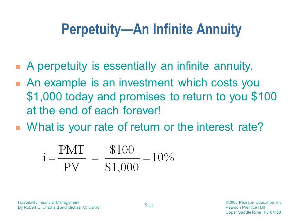 Perpetuity—An Infinite Annuity