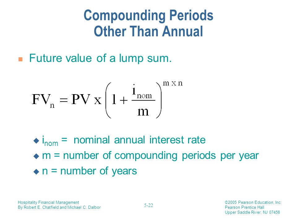 Compounding Periods Other Than Annual