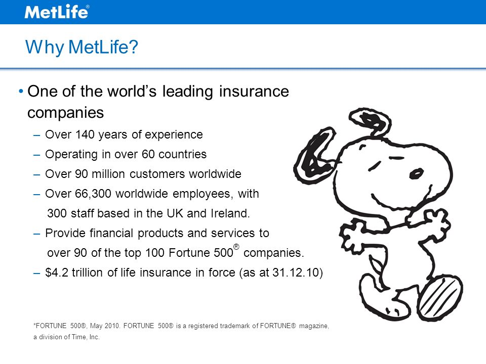 Why MetLife One of the world's leading insurance companies