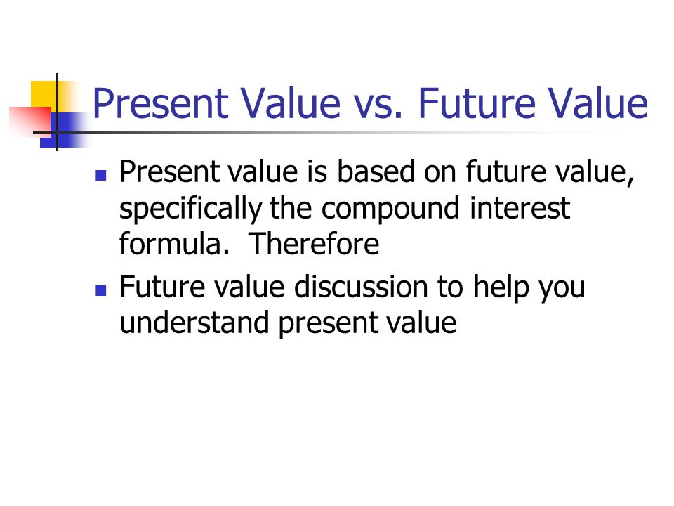 Present Value vs. Future Value