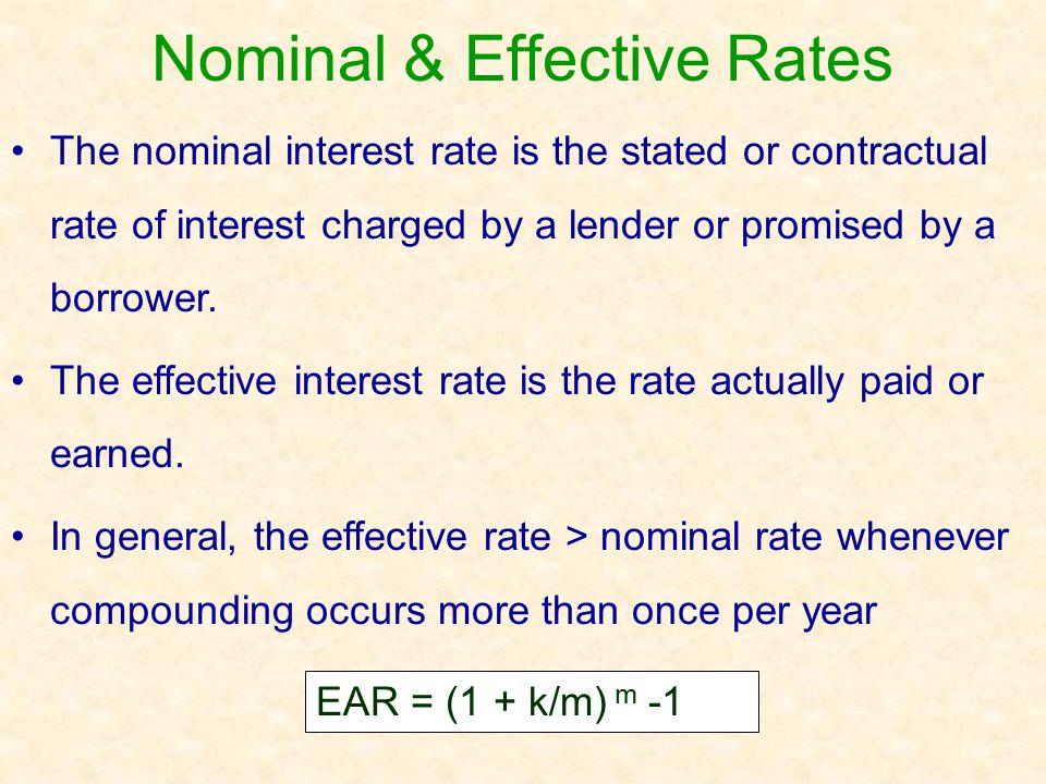 Nominal & Effective Rates
