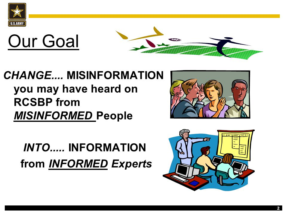 Our Goal CHANGE.... MISINFORMATION you may have heard on RCSBP from MISINFORMED People. INTO..... INFORMATION.