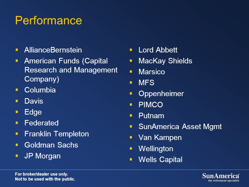 Performance AllianceBernstein