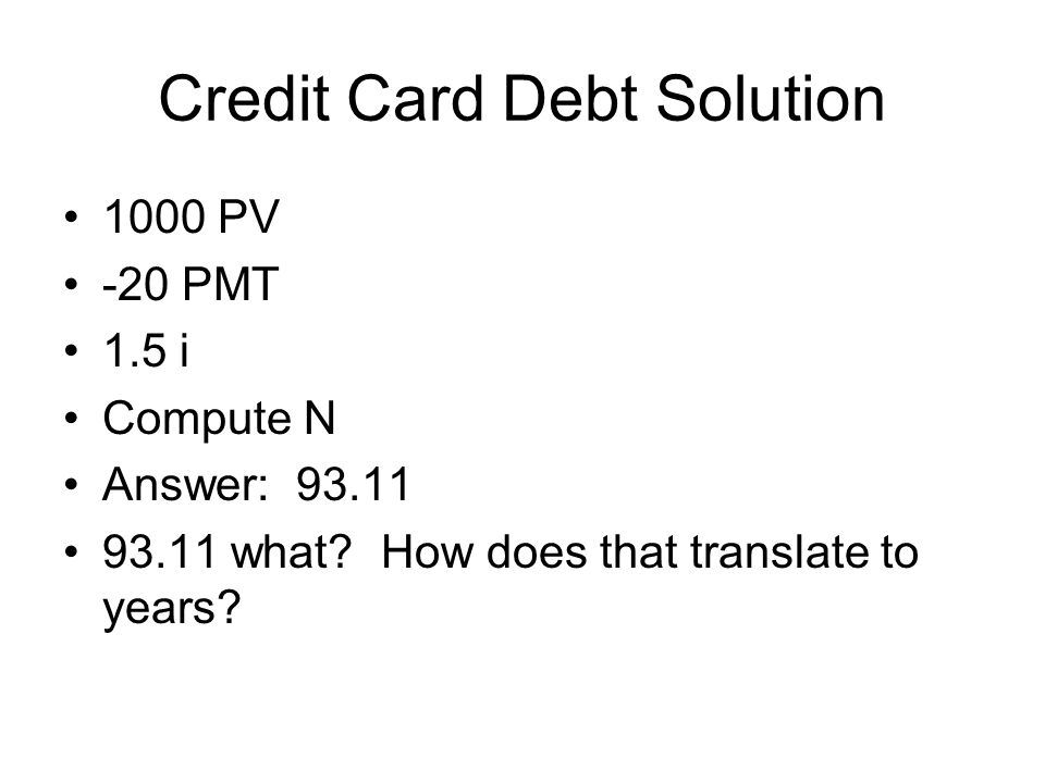 Credit Card Debt Solution