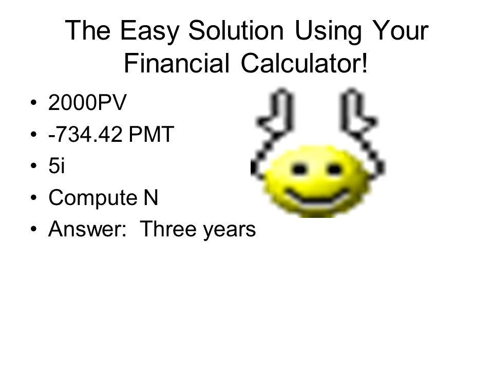 The Easy Solution Using Your Financial Calculator!