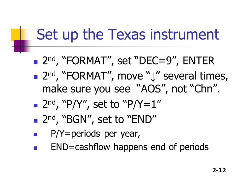 Set up the Texas instrument