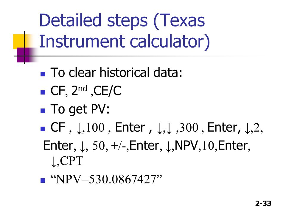 Detailed steps (Texas Instrument calculator)