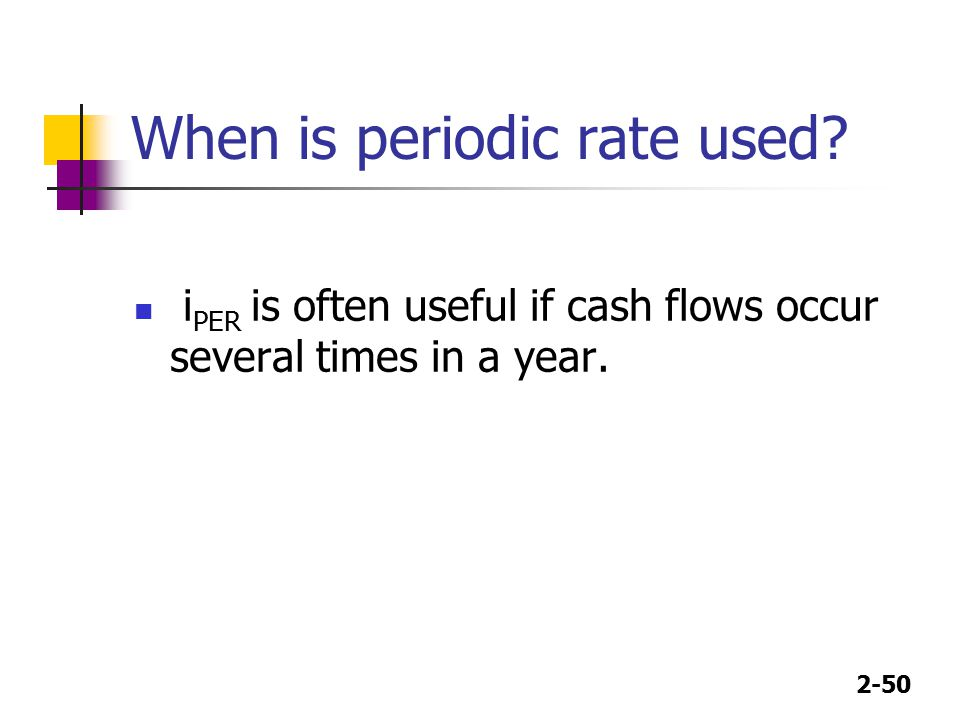 When is periodic rate used