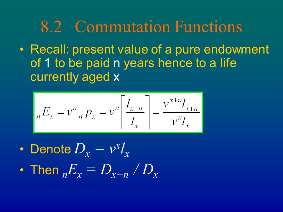 8.2 Commutation Functions