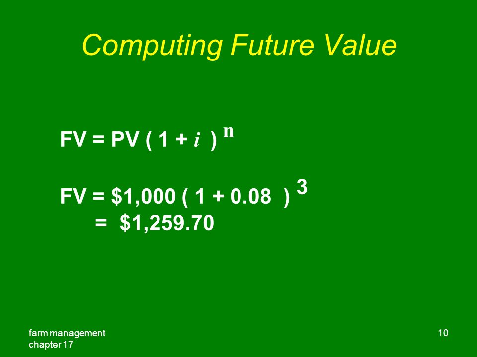 Computing Future Value