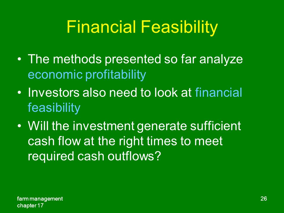Financial Feasibility