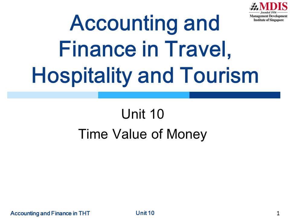 Accounting and Finance in Travel, Hospitality and Tourism