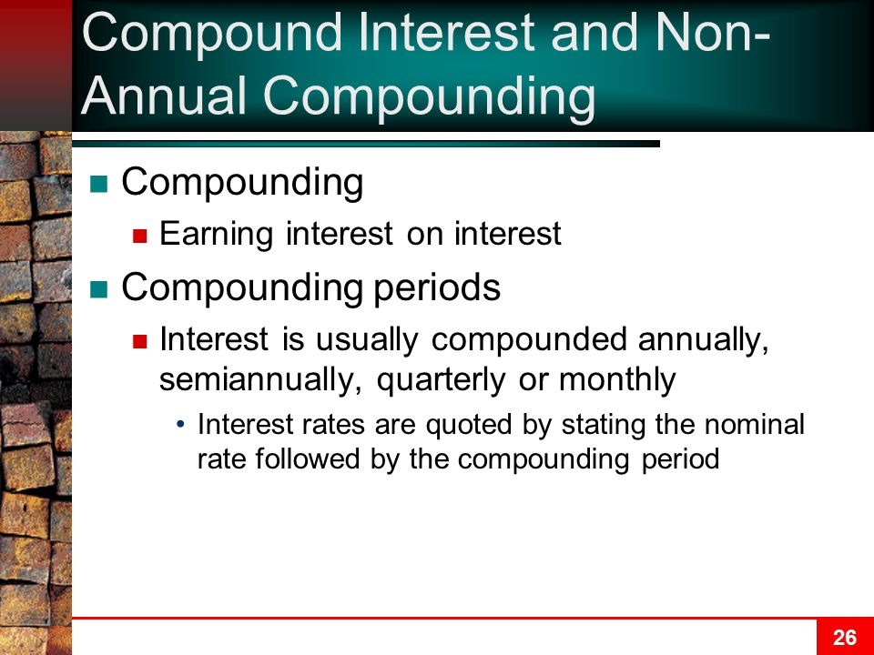 Compound Interest and Non-Annual Compounding