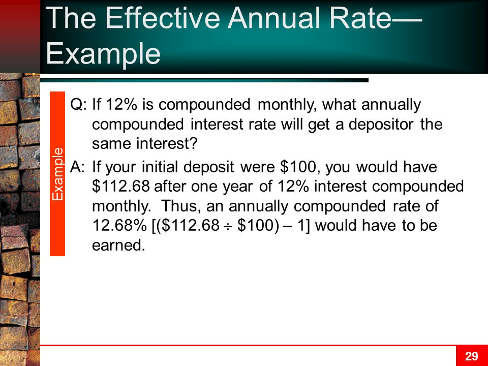 The Effective Annual Rate—Example