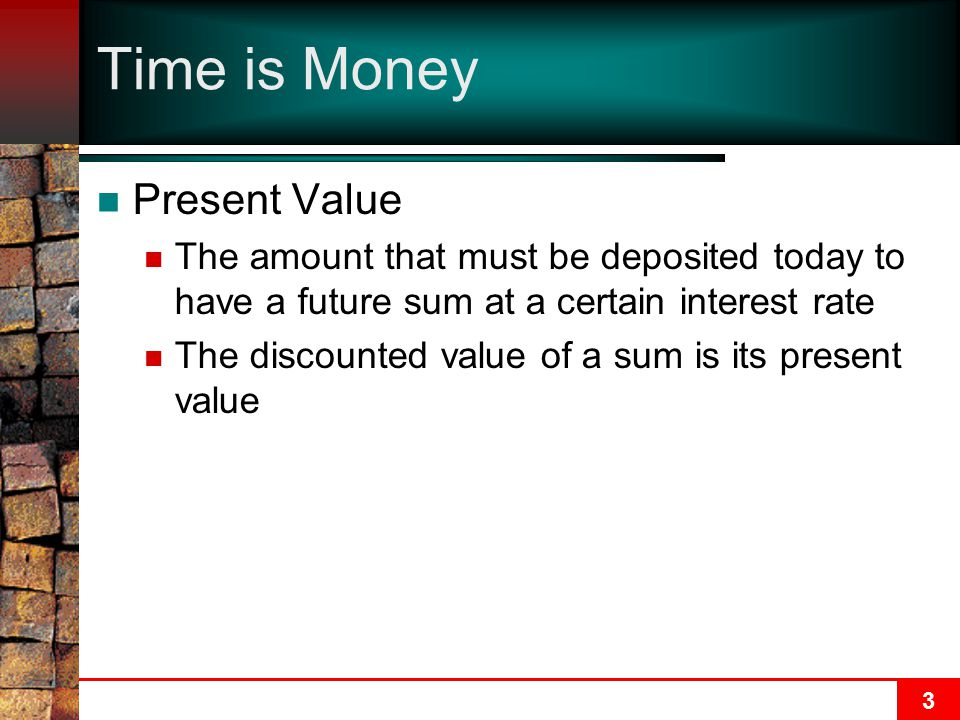 Time is Money Present Value