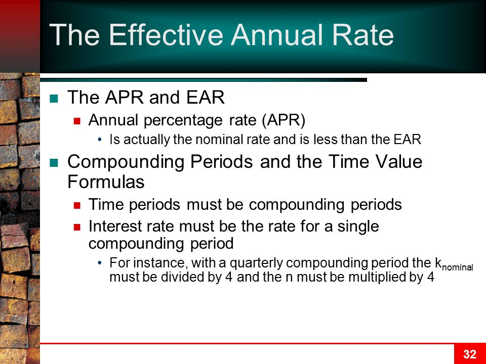 The Effective Annual Rate