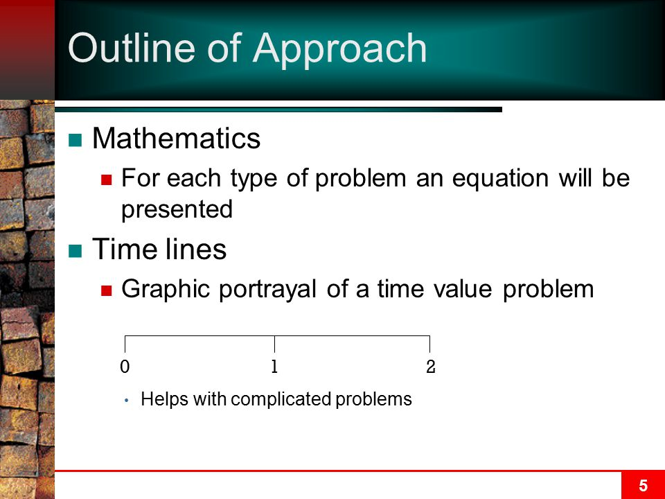 Outline of Approach Mathematics Time lines
