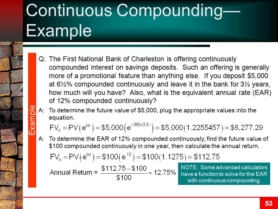 Continuous Compounding—Example