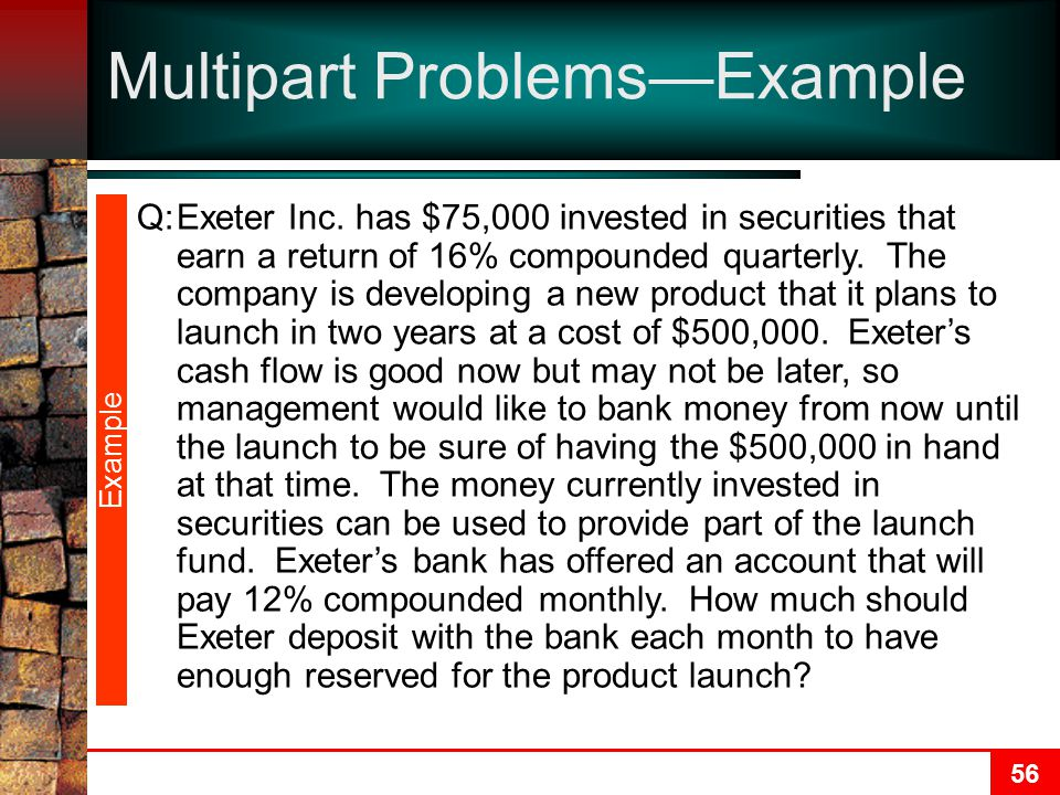 Multipart Problems—Example