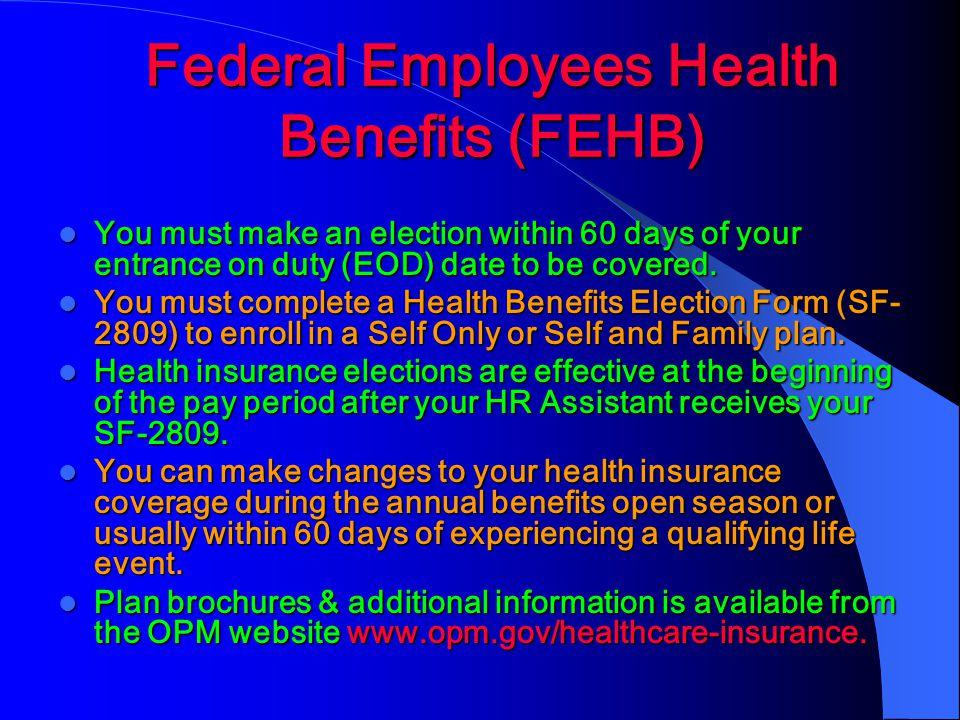 Federal Employees Health Benefits (FEHB)