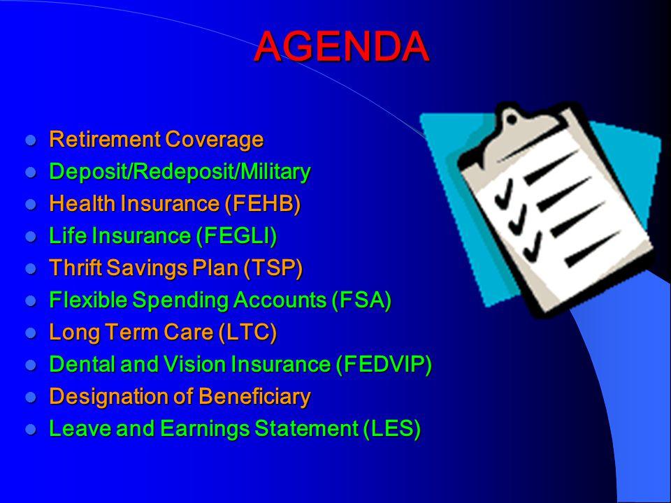 AGENDA Retirement Coverage Deposit/Redeposit/Military