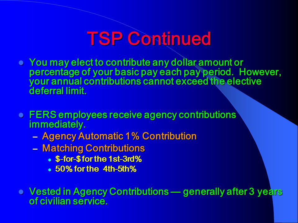 TSP Continued