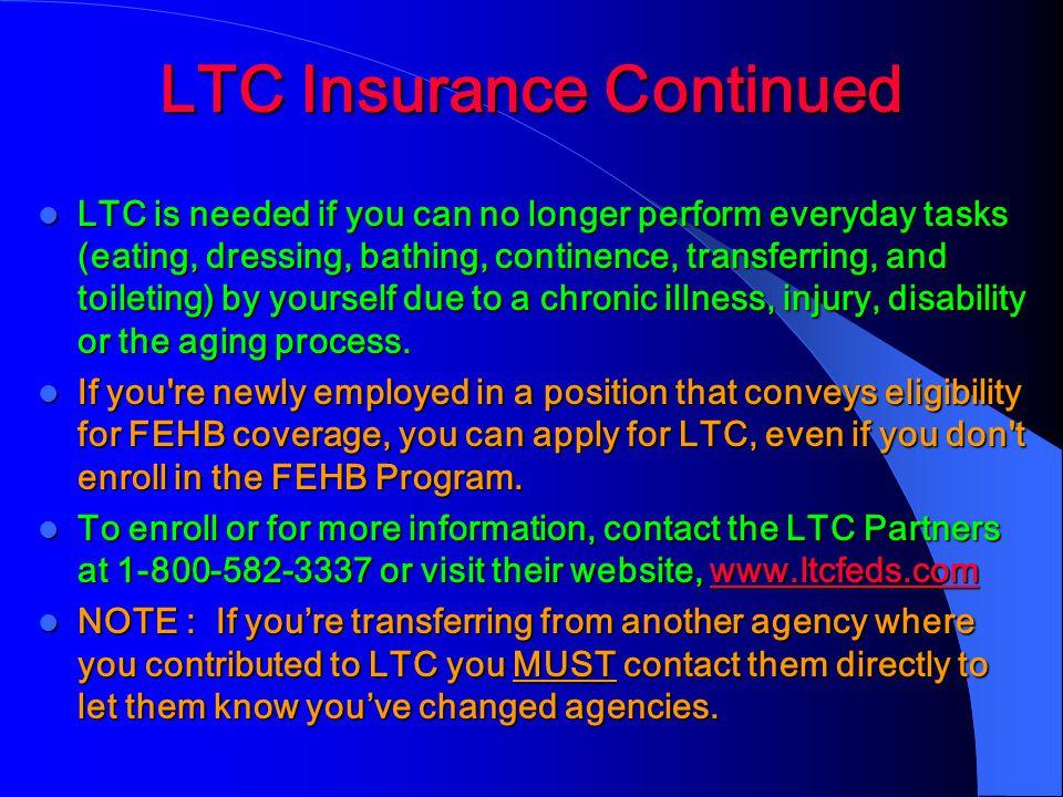 LTC Insurance Continued