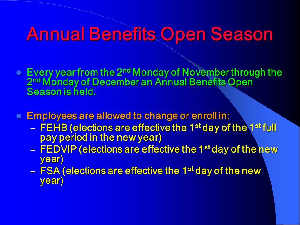 Annual Benefits Open Season