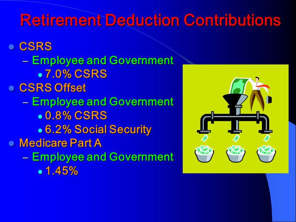 Retirement Deduction Contributions