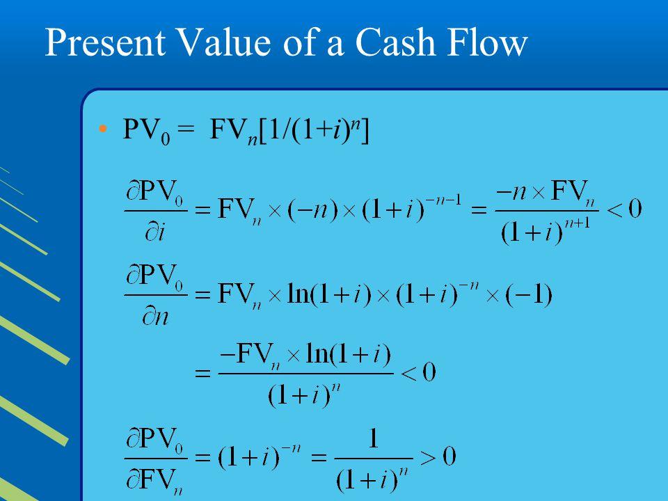 Present Value of a Cash Flow